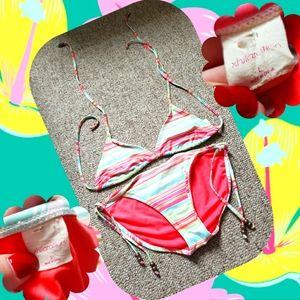 Xhilaration Striped Bikini Set 👙